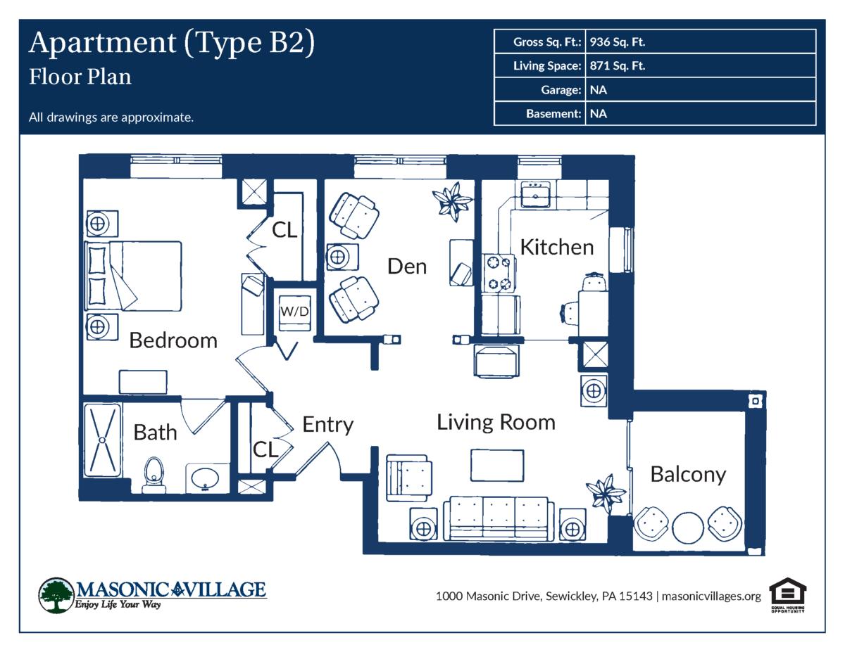 Apartment Type B2 Floor Plan