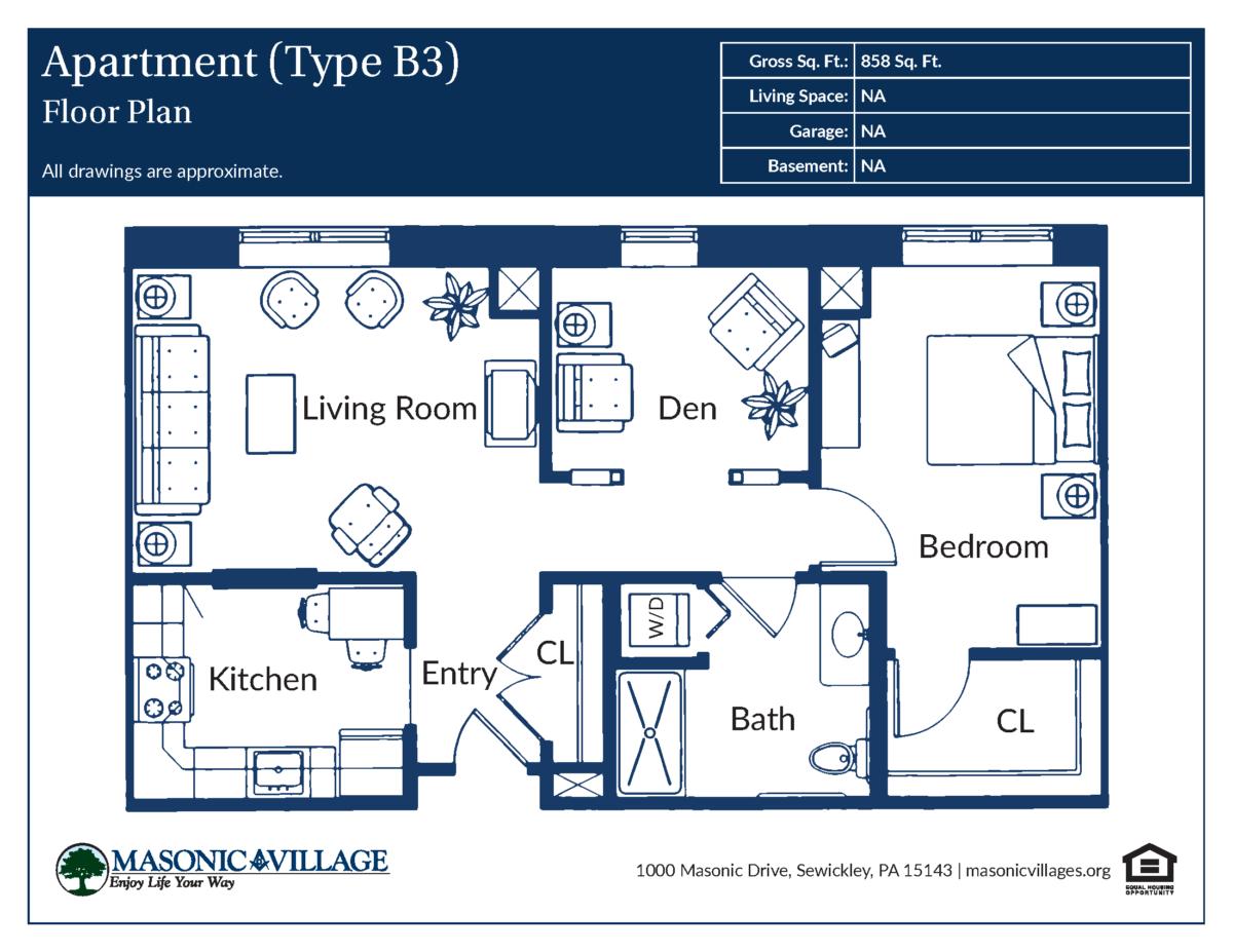 Apartment Type B3 Floor Plan