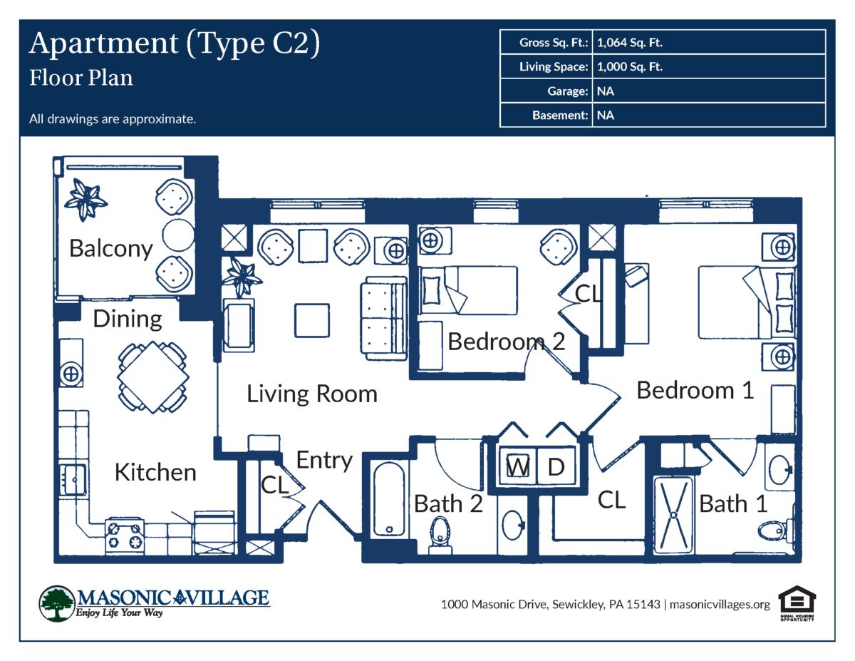 Apartment Type C2 Floor Plan